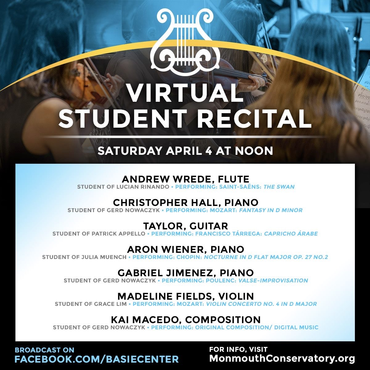 Virtual Student Recital – Watch On Facebook Live